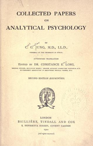 Download Analytical psychology.