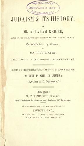 Judaism & its history.