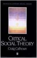 Download Critical social theory