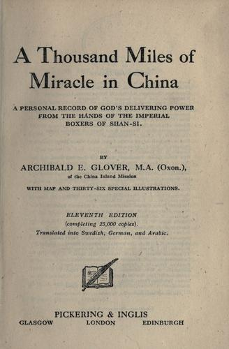 Download A thousand miles of miracle in China