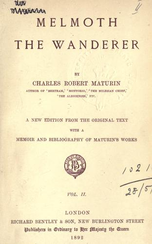 Download Melmoth the wanderer.