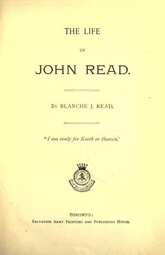 Download The life of John Read