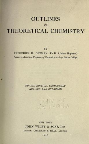 Download Outlines of theoretical chemistry