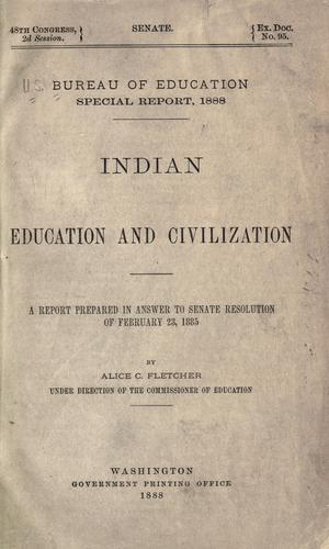Indian education and civilization