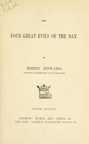 Download The four great evils of the day.