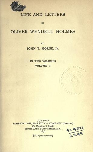 Download Life and letters of Oliver Wendell Holmes.