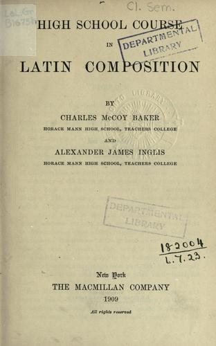High school course in Latin composition.
