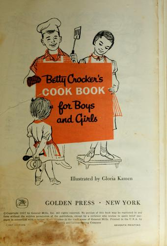 Download Betty Crocker's Cookbook for boys & girls.