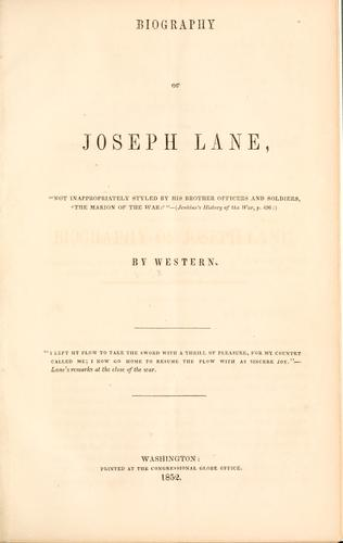 Download Biography of Joseph Lane …