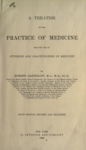 A treatise on the practice of medicine.
