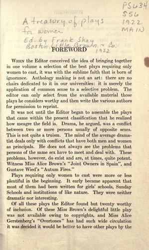 Download A treasury of plays for women