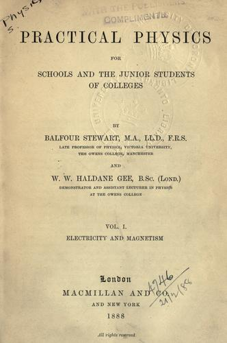 Download Lessons in elementary practical Physics.