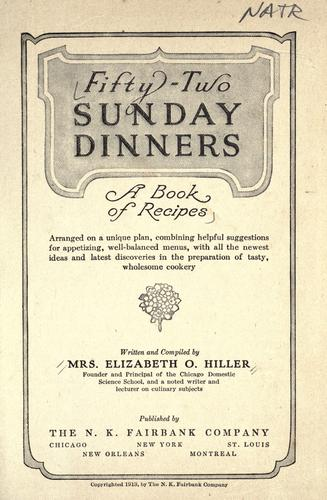 Download Fifty-two Sunday dinners