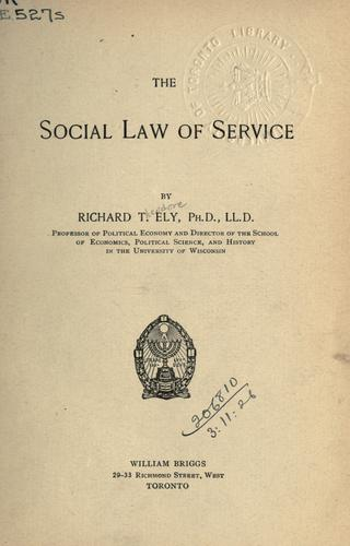 Download The social law of service.