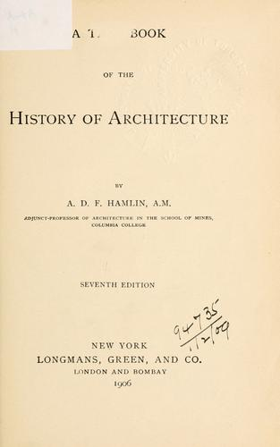 Download A text-book of the history of architecture.