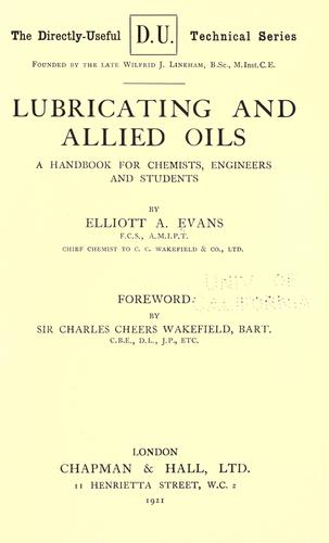 Download Lubricating and allied oils