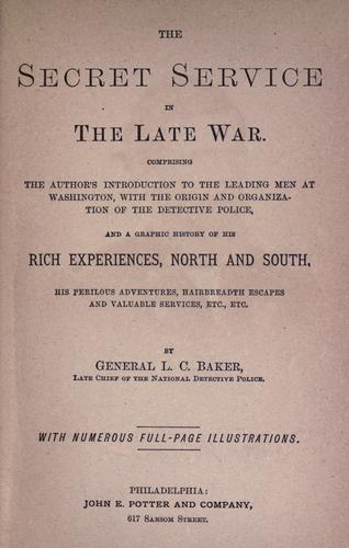 Download The Secret service in the late war