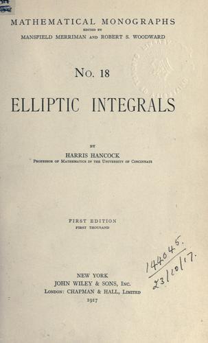 Elliptic integrals.