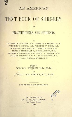 Download An American text-book of surgery