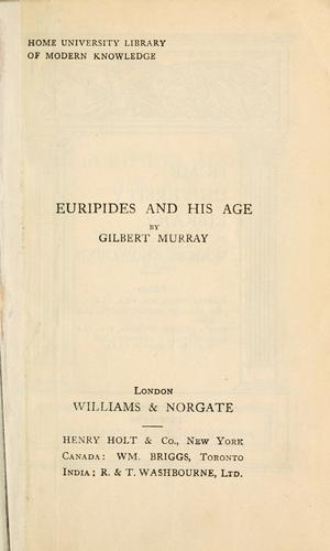 Euripides and his age