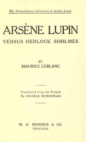 Download … Arsene Lupin versus Herlock Sholmes