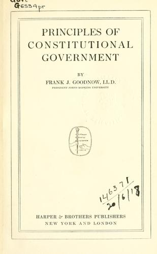Download Principles of constitutional government.
