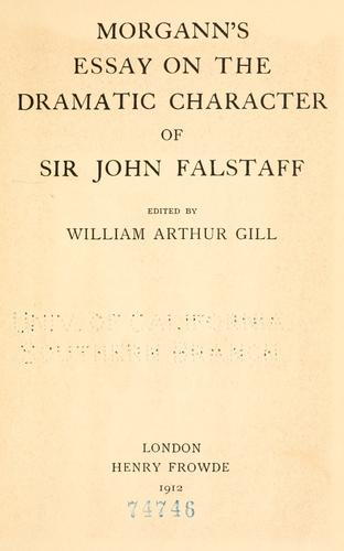 Download Morgann's Essay on the dramatic character of Sir John Falstaff