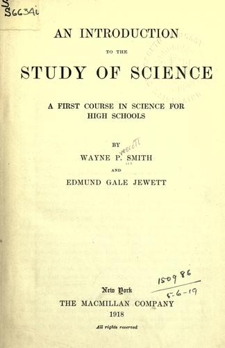 Download An introduction to the study of science