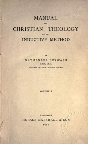 Download Manual of Christian theology on the inductive method