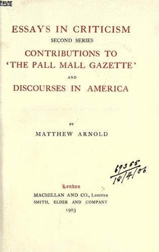 Download The works of Matthew Arnold.