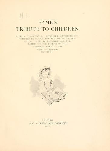 Fame's tribute to children