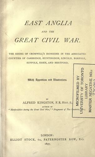 Download East Anglia and the great civil war