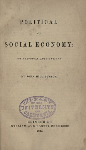 Download Political and social economy