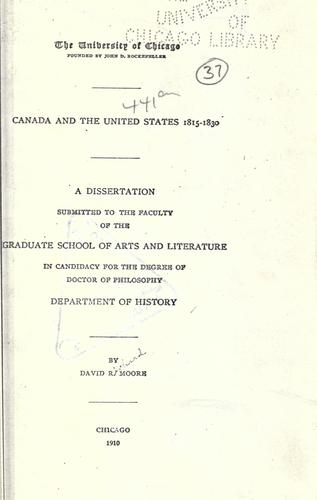 Download Canada and the United States 1815-1830