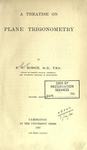 A treatise on plane trigonometry.