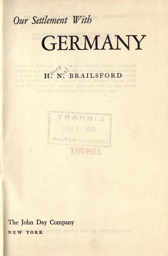 Download Our settlement with Germany