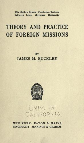 Download Theory and practice of foreign missions