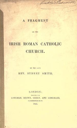 Download A fragment on the Irish Roman Catholic church