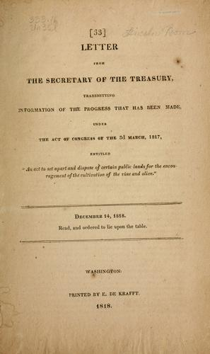 Download Letter from the Secretary of the Treasury