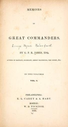 Memoirs of great commanders.