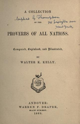 A collection of the proverbs of all nations