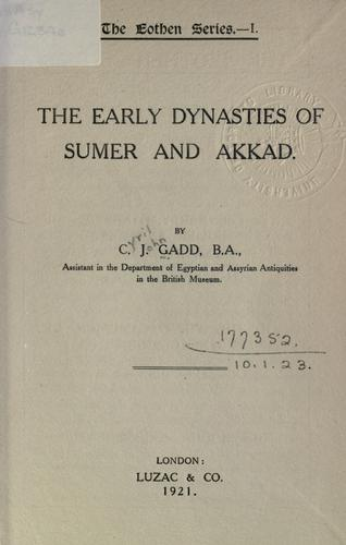 Download The early Dynasties of Sumer and Akkad.
