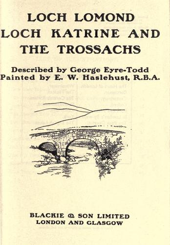 Download Loch Lomond, Loch Katrine and the Trossachs