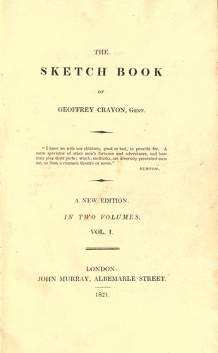 Download The sketch book of Geoffrey Crayon, gent.