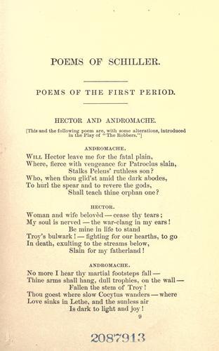 Poems of Schiller