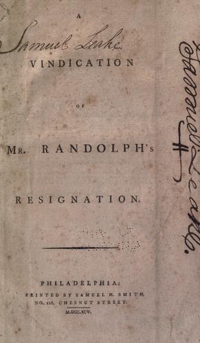 Download A vindication of Mr. Randolph's resignation