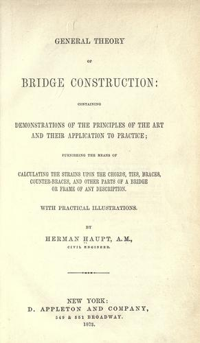 Download General theory of bridge construction
