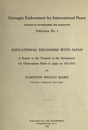 Download Educational exchange with Japan