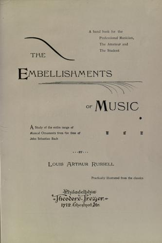 The embellishments of music