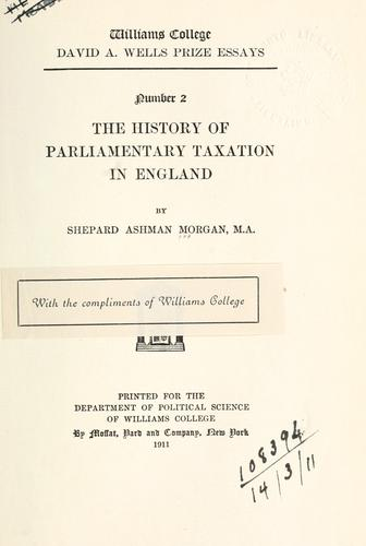 The history of parliamentary taxation in England.